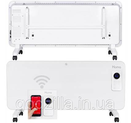 Обогреватель Homa PH-2024 WIFI 2000W Стеклянная панель, Сенсорное управление + WIFI   Белый