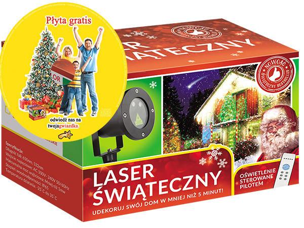 Лазерный проектор RGB 8в1  Елки, снежинки, звездочки 3 цвета (RGB2210)