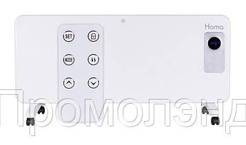 Обігрівач Homa PH-2023 LED 2000W Скляна панель, Сенсорне управління + Пульт / Білий