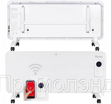Обігрівач Homa PH-2024 WIFI 2000W Скляна панель, Сенсорне управління + WIFI Білий