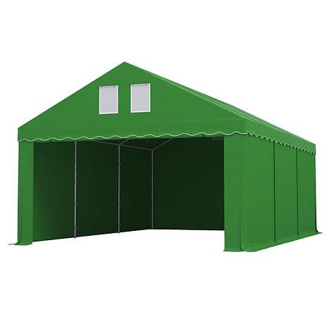 Тэнтовый гараж COMFORT ПВХ 3 x 6м Зелений, фото 2