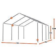 Тэнтовый гараж COMFORT ПВХ 3 x 6м Зелений, фото 3