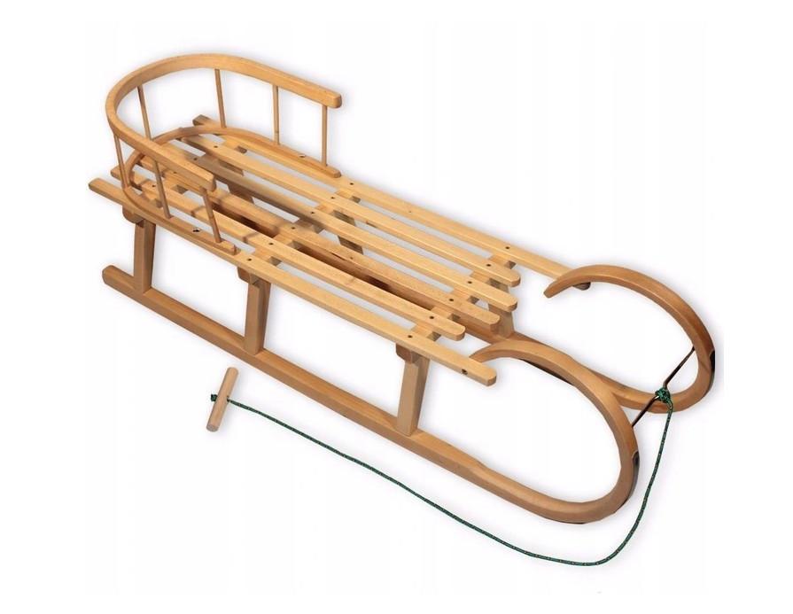 Санки дерев'яні WOOD ROGI зі спинкою