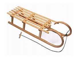 Санки дерев'яні WOOD ROGI зі спинкою, фото 3