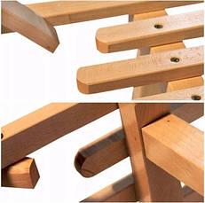 Санки дерев'яні WOOD ROGI зі спинкою, фото 2
