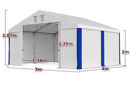 Шатер Палатка Садовая без окон SUMMER FLOOR PVC 3 x 4m, фото 2