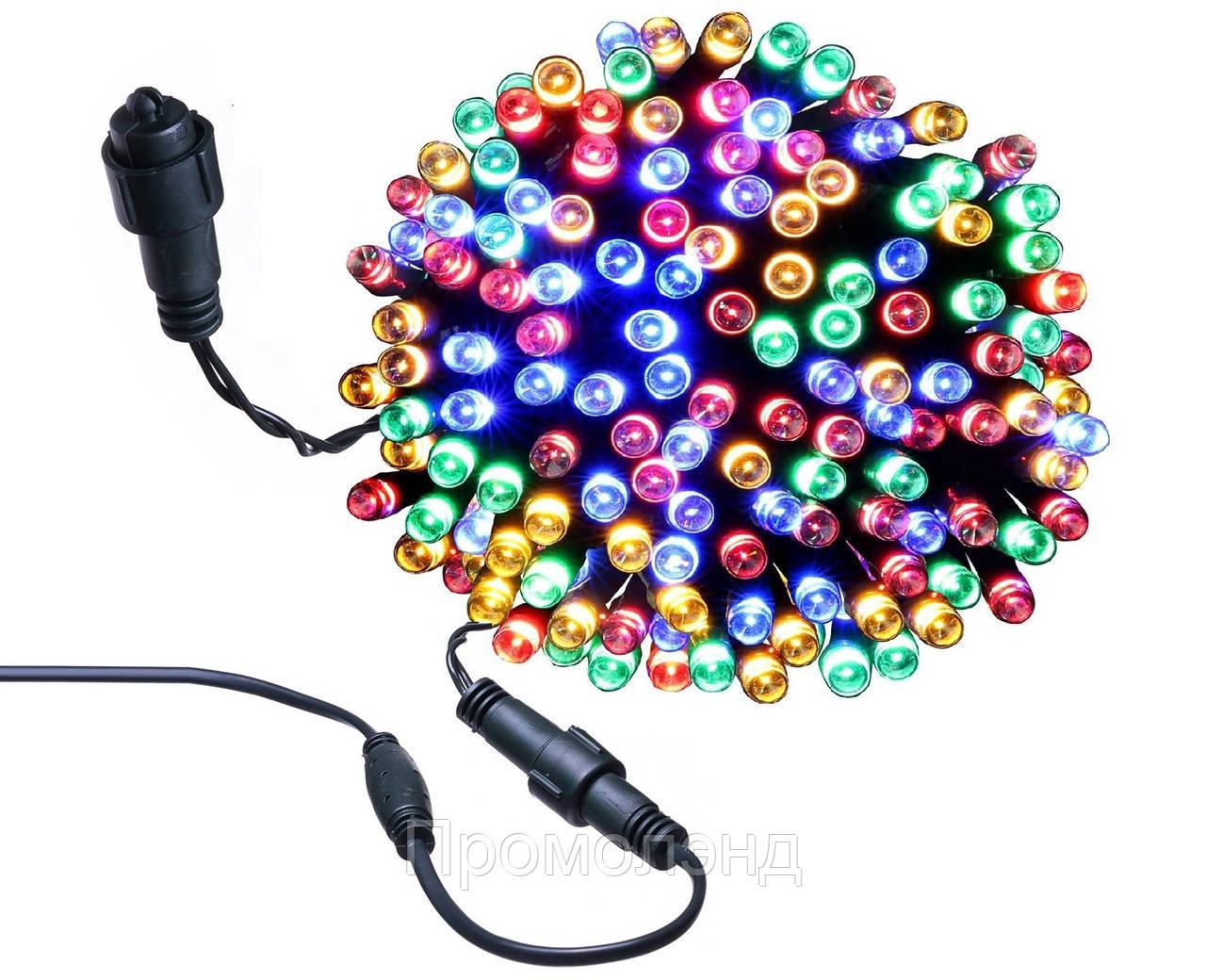 Новорічна гірлянда 100 LED, 8 M, Різнобарвна,кабель 2,2 мм