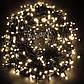 Новорічна гірлянда 300 LED, IP44, Довжина 24 М, Білий теплий світло, фото 2