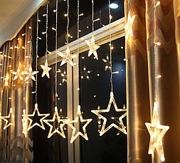 """Новорічна гірлянда """"Зірки бахрома"""" 170 LED, 3,2 Метра, фото 2"""