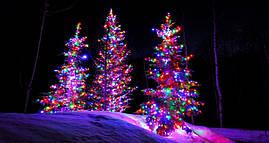 Новогодняя гирлянда 500 LED, IP44, Длина 38 М, Разноцветный свет, фото 2