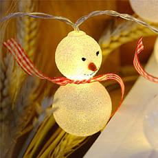 """Новорічна гірлянда """"Сніговики"""" 10 LED, Довжина 2M, фото 2"""