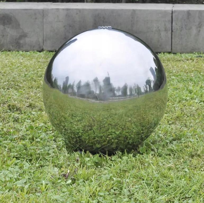 Декоративный фонтан Светодиодный шарик из нержавеющей стали 30см