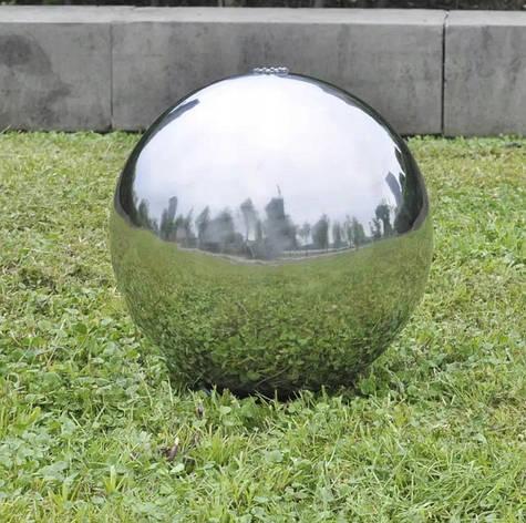 Декоративный фонтан Светодиодный шарик из нержавеющей стали 30см, фото 2