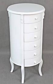Комод круглий Borko 130016 6 ящиків білий