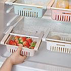 ОПТ Органайзер в холодильник Storage rack раздвижной с настройкой держателя, фото 4