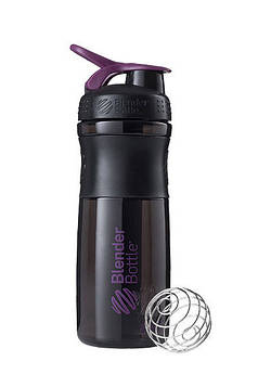 Спортивна пляшка-шейкер BlenderBottle SportMixer 28oz/820ml Black/Plum (ORIGINAL) (AS)