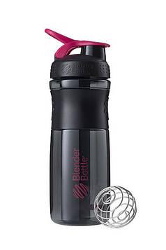 Спортивна пляшка-шейкер BlenderBottle SportMixer 28oz/820ml Black/Pink (ORIGINAL) (AS)