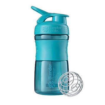 Спортивна пляшка-шейкер BlenderBottle SportMixer 20oz/590ml Teal (ORIGINAL) (AS)