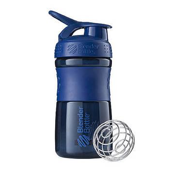 Спортивна пляшка-шейкер BlenderBottle SportMixer 20oz/590ml Navy (ORIGINAL) (AS)