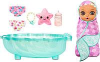 Кукла пупс Беби борн русалка с ванночкой Baby Born Surprise Mermaid Teal Towel Zapf Creation 20 сюрпризов