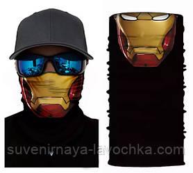 Мото баф Iron man skull. Якісна маска на обличчя