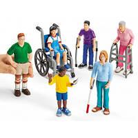 Набор реалистичных фигурок людей с ограниченными возможностями Lakeshore - 6 шт