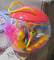 Яркий оригинальный подарочный красивый набор детских Погремушок, игрушки для малышей