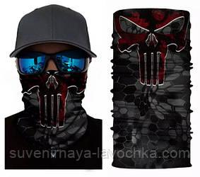Мото баф Punisher Skull. Якісна маска на обличчя