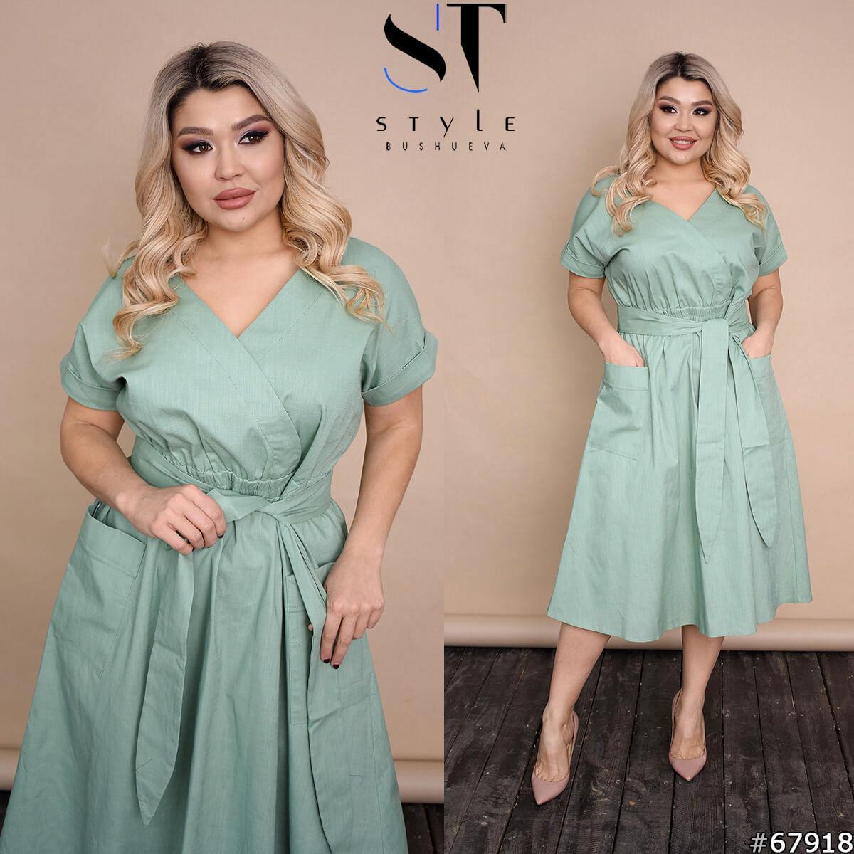 Лляне жіноче плаття батал р. 48-58 ST Style XL