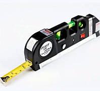 Лазерный уровень нивелир Fixit Laser Level Pro 3 +рулетка +уровень | Измерительный инструмент