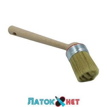 Кисть профессиональная угловая для монтажной пасты диаметр 50 мм Польша
