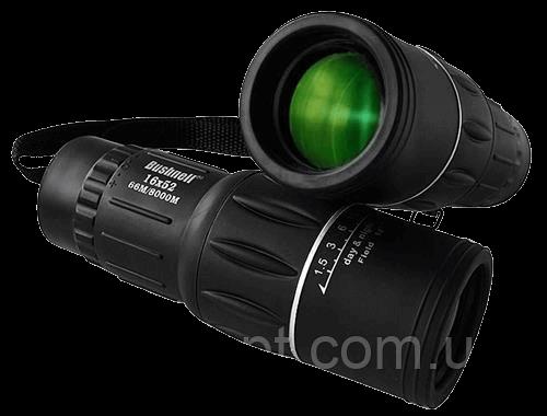 Качественный Монокуляр BUSHNELL 16x52 с двойной фокусировкой оптика Eco-glass + чехол Черный