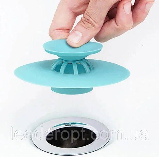 ОПТ Фильтр заглушка для раковины силиконовая пробка универсальная