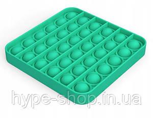 Сенсорна іграшка Pop It антистрес, квадратна берюзовая