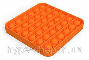 Сенсорна іграшка Pop It антистрес, квадратна помаранчева