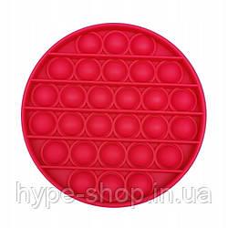 Іграшка антистрес пупиришки Pop It Силікон коло Red