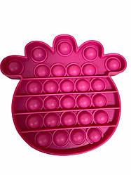 Сенсорна іграшка Pop It антистрес, ананас вишнева