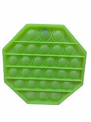 Сенсорна іграшка Pop It антистрес, світять в темноті салатовий