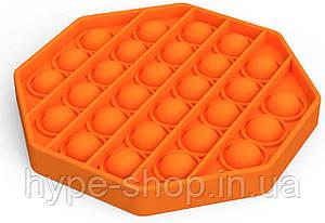 Сенсорна іграшка Pop It антистрес, ромб помаранчева