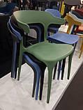 Пластиковый стул Lucky темно бирюзовый (бесплатная доставка), фото 2