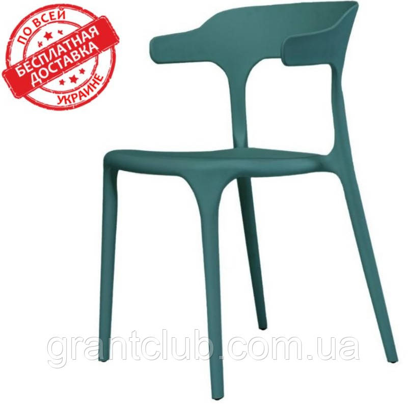 Пластиковый стул Lucky темно бирюзовый (бесплатная доставка)