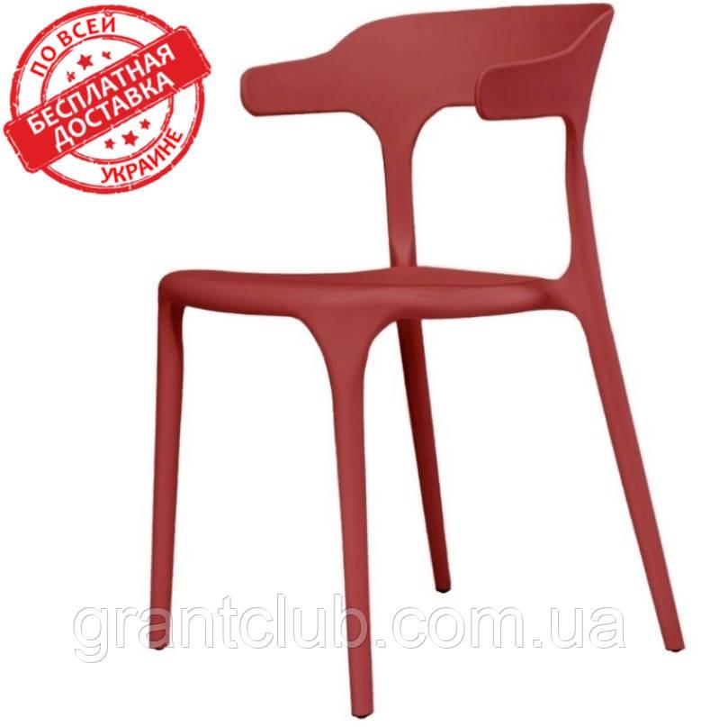 Пластиковий стілець Lucky червоний кармін (безкоштовна доставка)