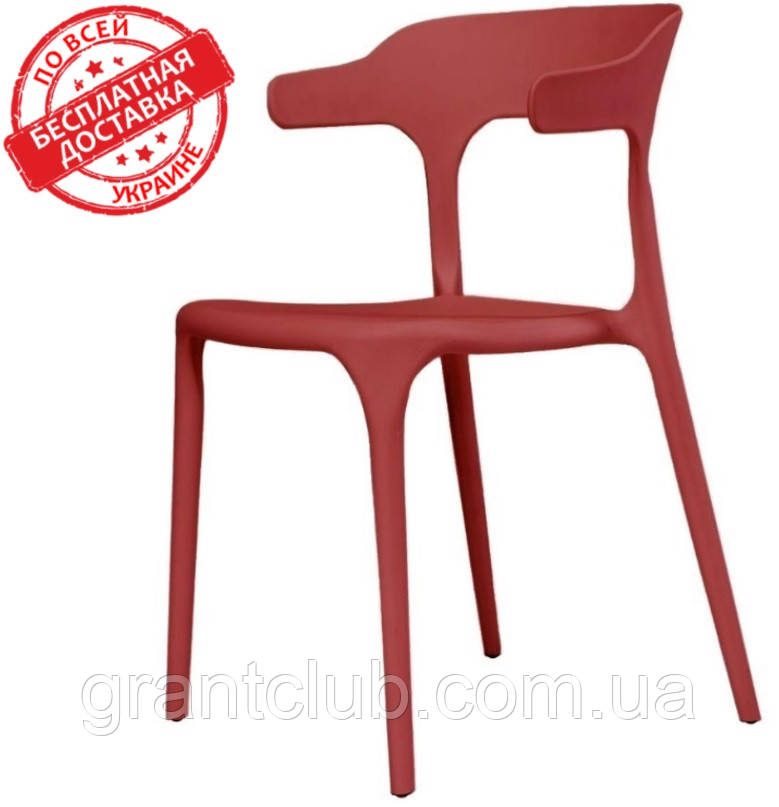 Пластиковый стул Lucky красный кармин (бесплатная доставка)