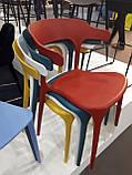 Пластиковый стул Lucky красный кармин (бесплатная доставка), фото 2