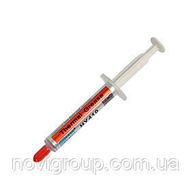 Паста термопровідна HY-410 5g, шприц, White,> 1,42 W / m-K, <0.262 ° C-in2 / W, -30 ° ≈280 °, У в'язкість -1K