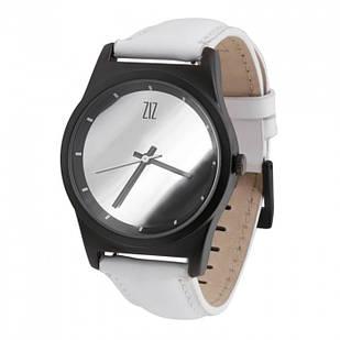 Годинник ZIZ Mirror на шкіряному ремінці + додатковий ремінець + подарункова коробка Білі (4100342)