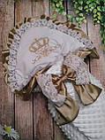 Конверт для новонароджених з вишивкою Корони, фото 2