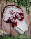 Конверт для новонароджених з вишивкою Корони, фото 3