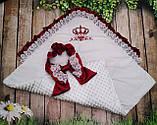 Конверт для новонароджених з вишивкою Корони, фото 4