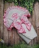 Конверт для новонароджених з вишивкою Корони, фото 5